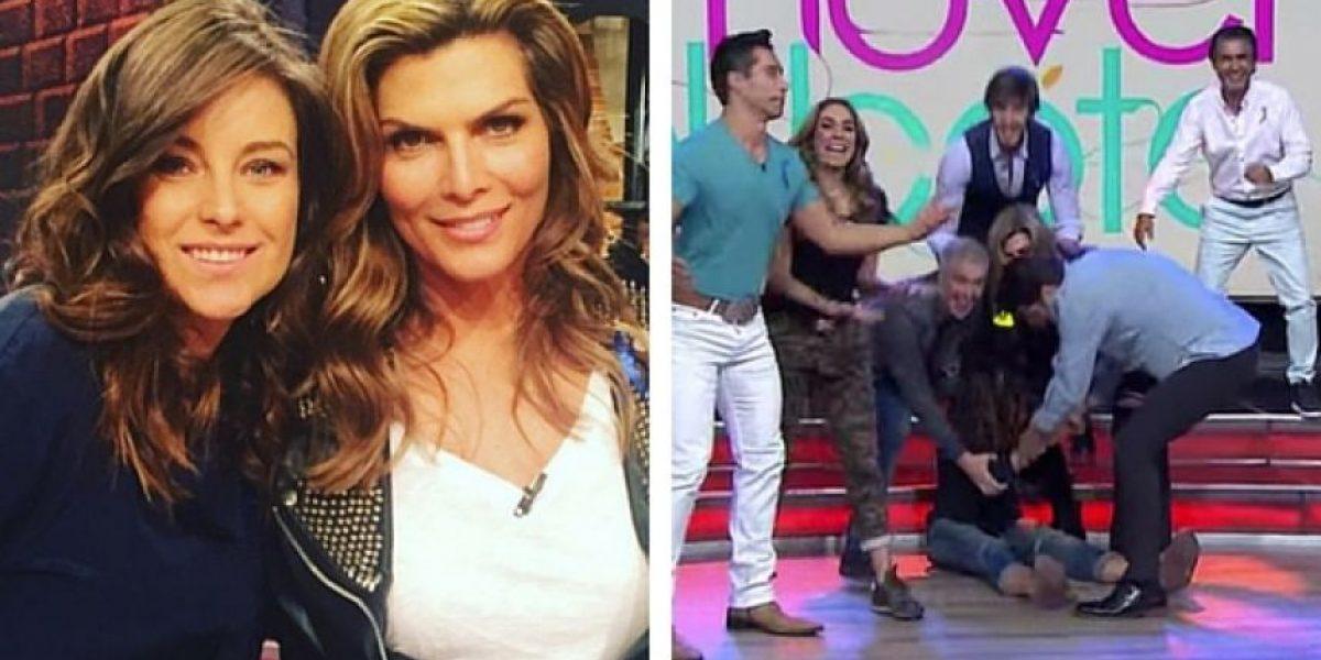 Dominika Paleta sufre bochornosa caída en programa en vivo
