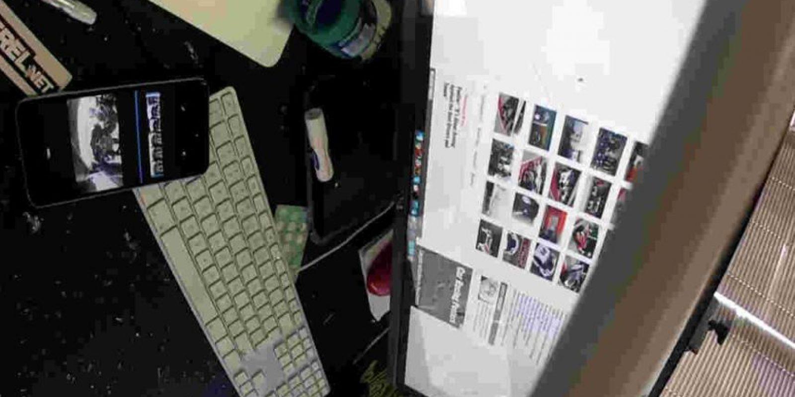 Y fue a dar directo a una firma de diseño, golpeando a Perel. Foto:David Perel