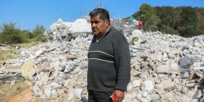 Durante el ingreso de los granaderos se registraron conatos de violencia dejando como saldo cuatro habitantes de la comunidad otomí heridos. Foto:Cuartoscuro