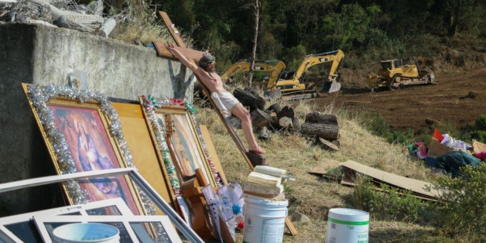 Los pobladores se oponían a esta obra por la devastación y afectación que sufriría el paraje conocido como Bosque de Agua, donde se recarga el acuífero del río Lerma. Foto:Cuartoscuro