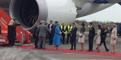 El presidente aterrizó a las 13:00hrs de Copenhague Foto:Twitter