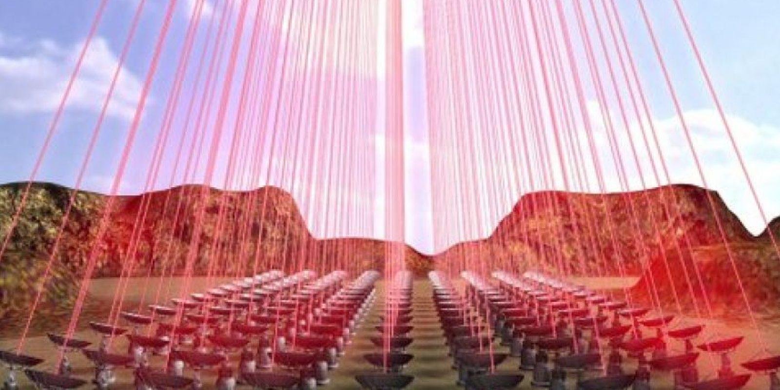 Y propulsada desde la Tierra a través de rayos láser Foto:Twitter.com