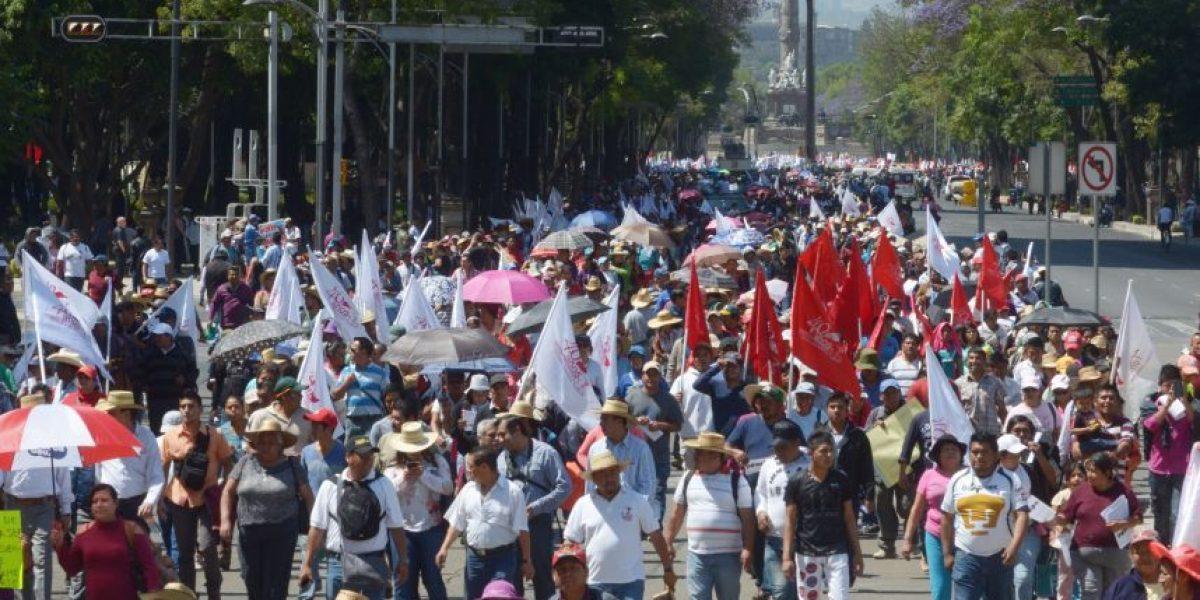 Buscan medir contaminación por marchas en la CDMX