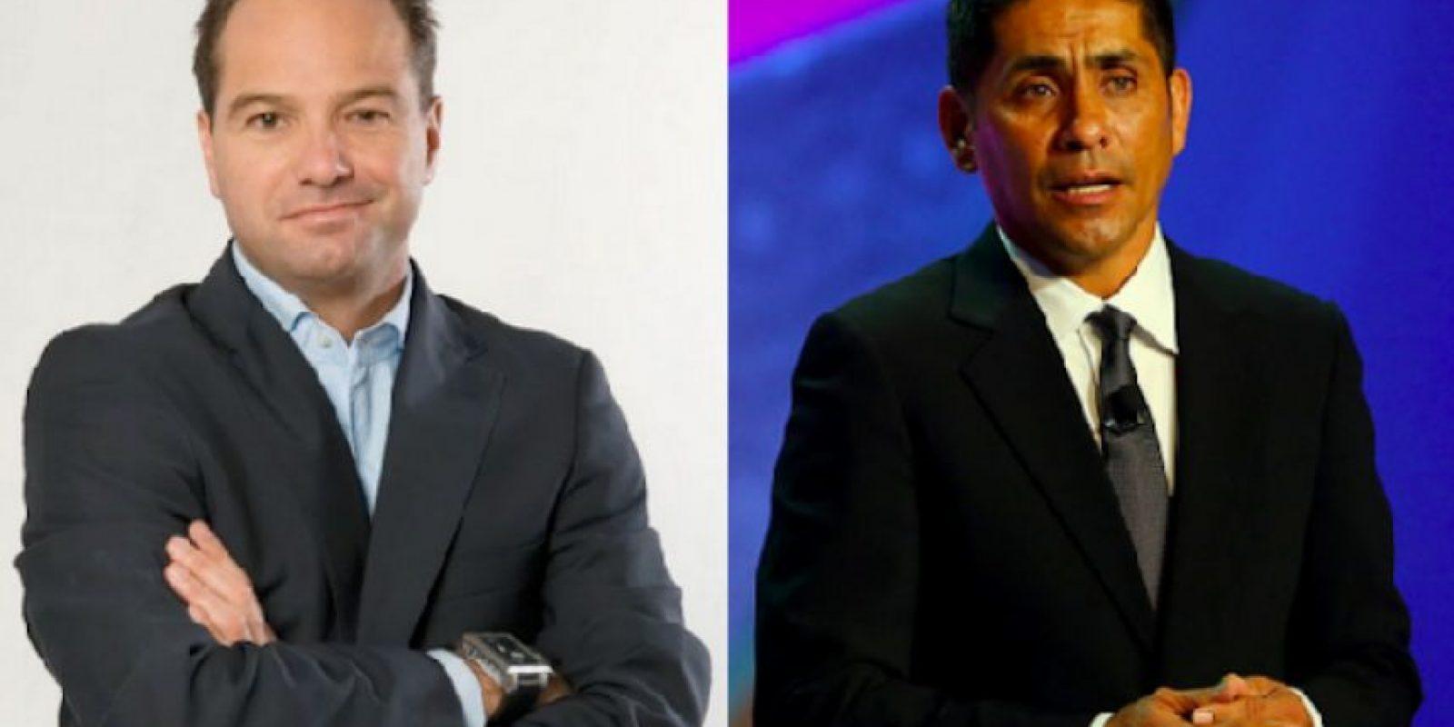 Luis García Postigo y Jorge Campos, ex futbolistas y ahora comentaristas deportivos en TV Azteca Foto:Especial
