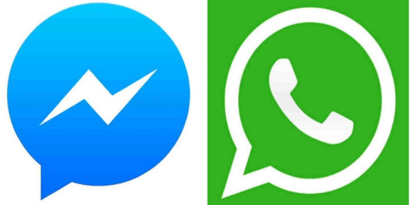 Ambas aplicaciones pertenecen a Facebook. Foto:Messenger/WhatsApp