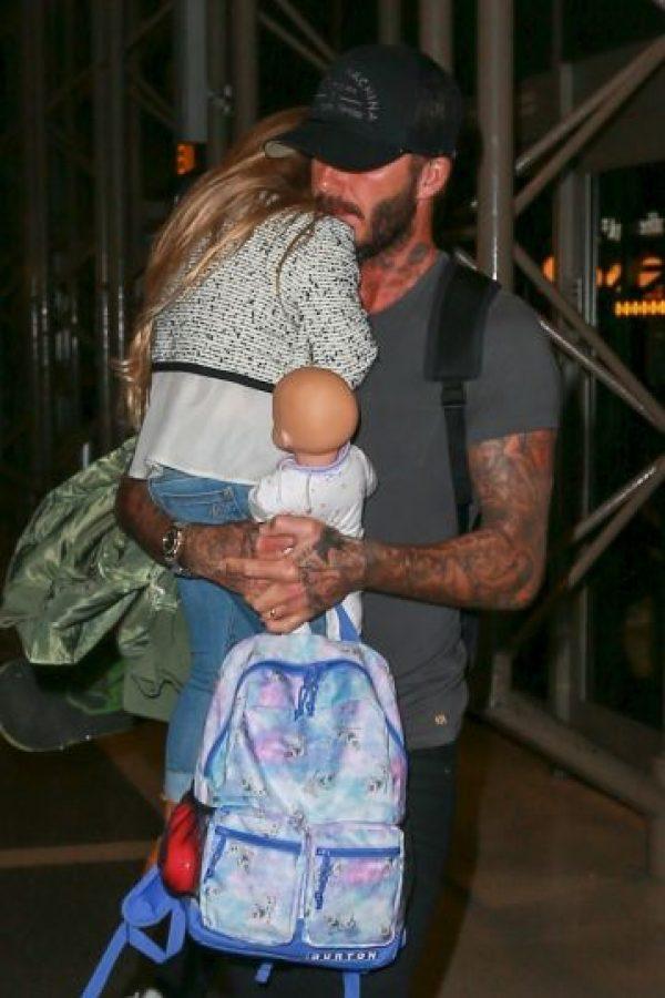 David y su pequeña hija Harper de 4 años. Foto:Getty Images
