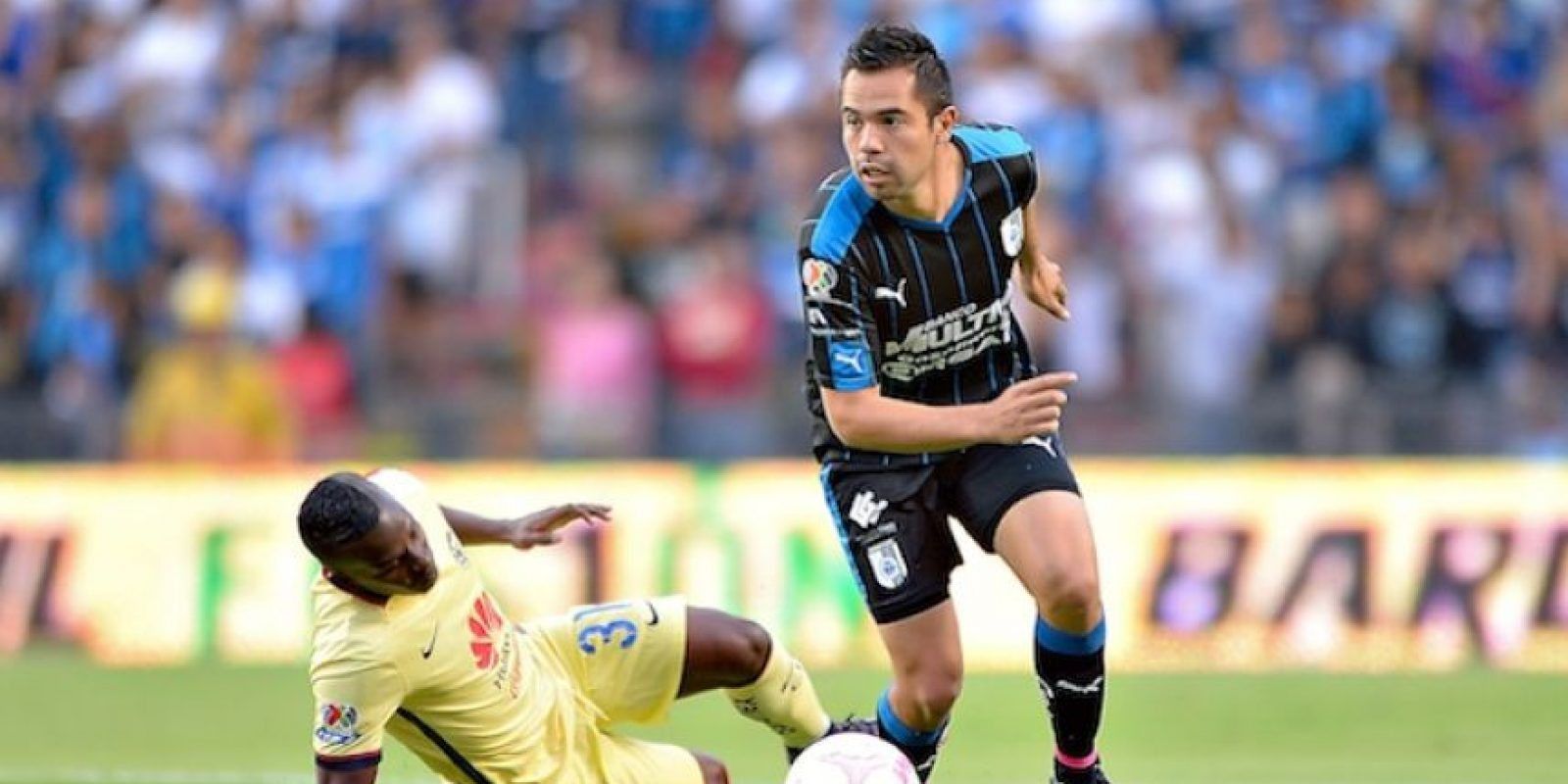Querétaro superó al sublider América en la fecha 14 del Clausura 2016. Foto:Mexsport