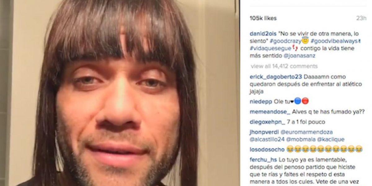 VIDEO: Dani Alves anima al Barça con su lado femenino