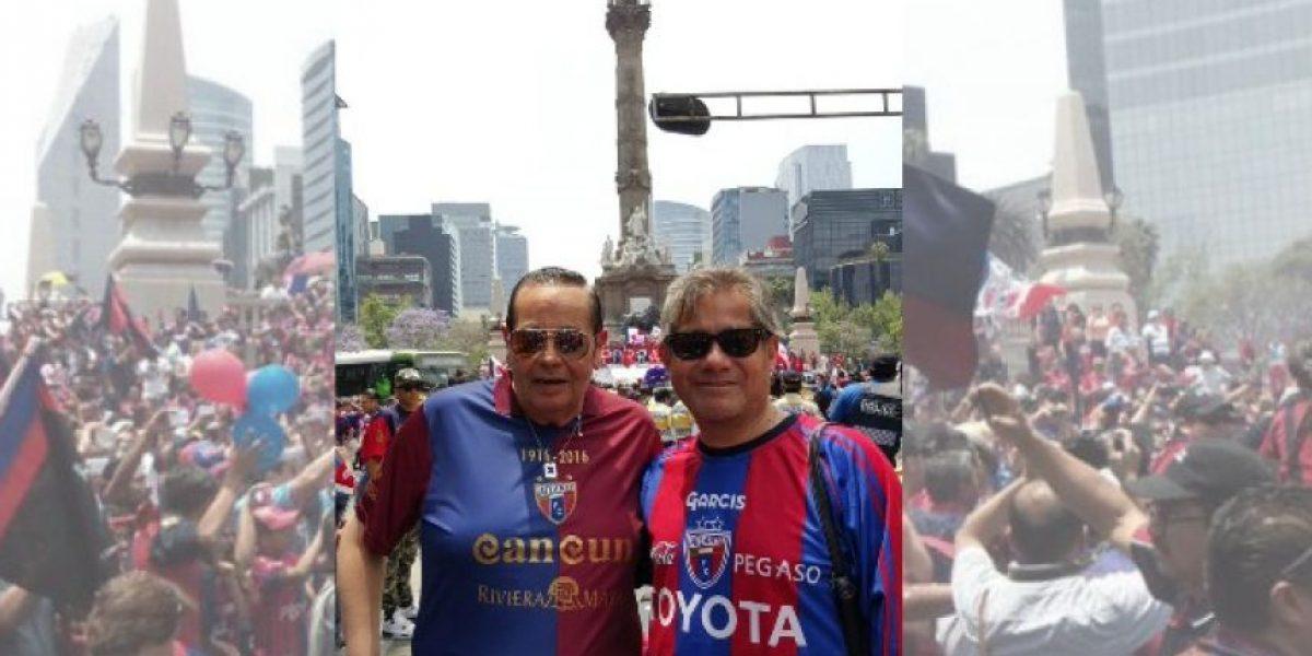Conductores de Televisa se unen a los festejos del centenario del Atlante en el Ángel