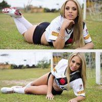 A la amiga de la Miss BumBum también le gusta el futbol Foto:Instagram: @oficialjelopes