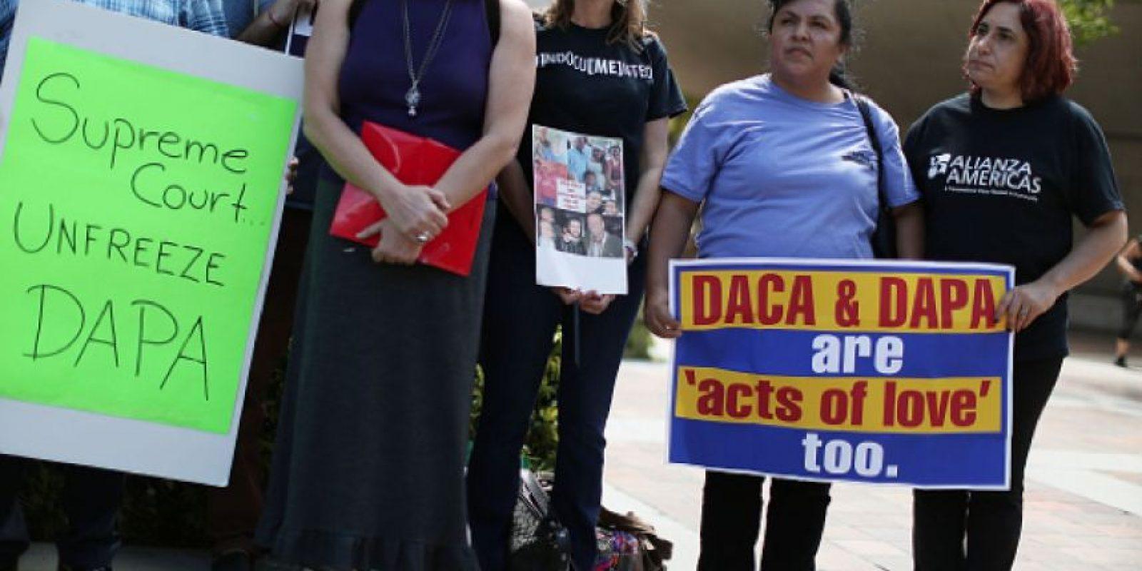 Lod migrantes que consigan entrar al DACA sólo tiene derecho a trabajar y en su caso estudiar. Foto:Getty Images