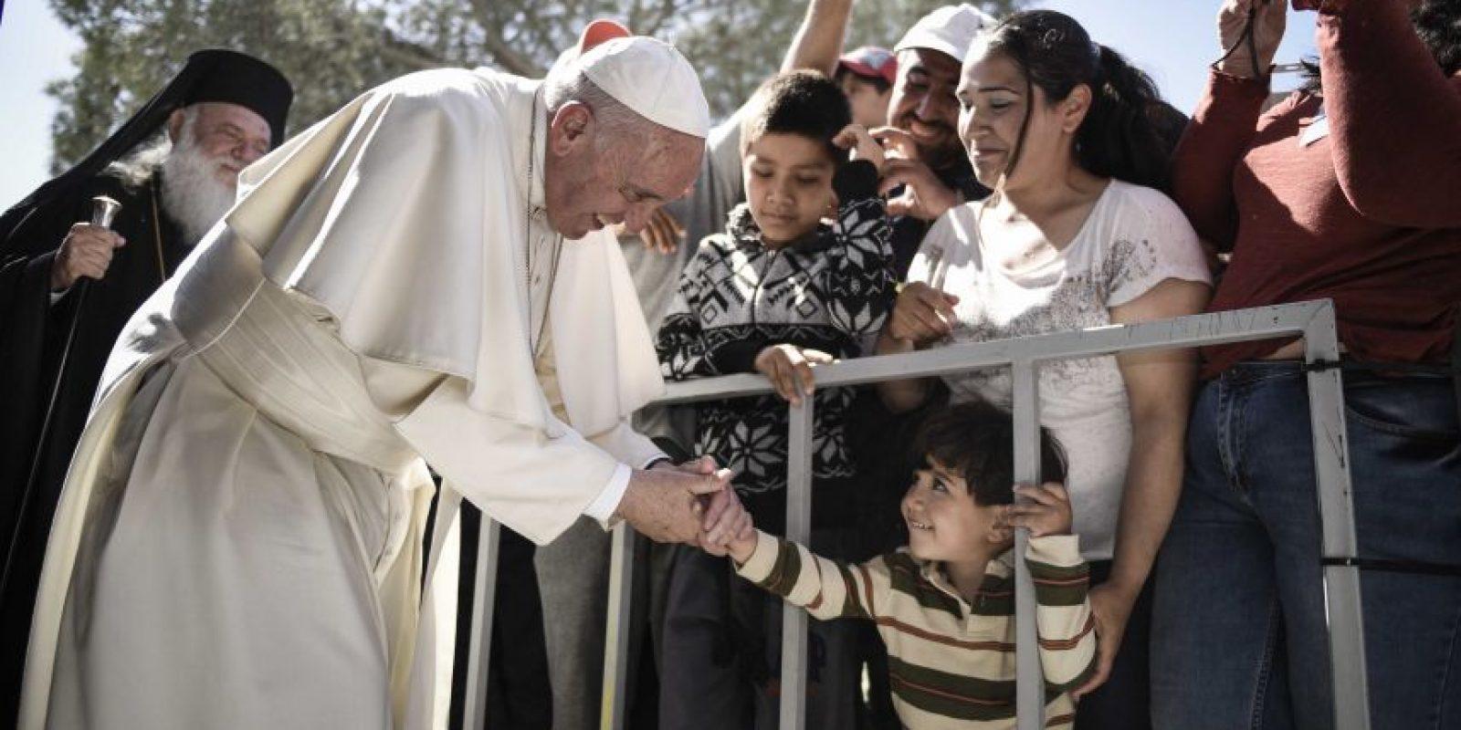El Papa Francisco pudo convivir con varios niños refugiados Foto:cuartoscuro