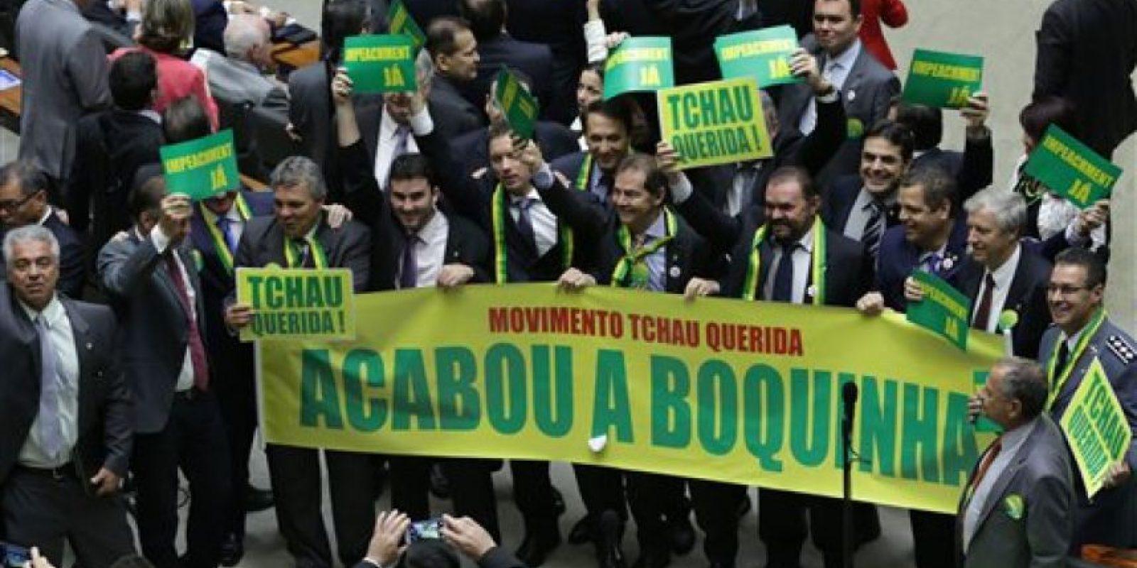 El impeachment requiere el apoyo de 342 diputado para prosperar Foto:AP