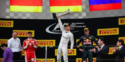 Rosberg, Vettel y Kvyat completaron el podio en China. Foto: Getty Images