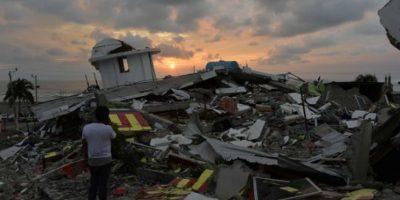 """La localidad de Pedernales, donde fue el epicentro, quedó """"destruida"""" Foto:AFP"""