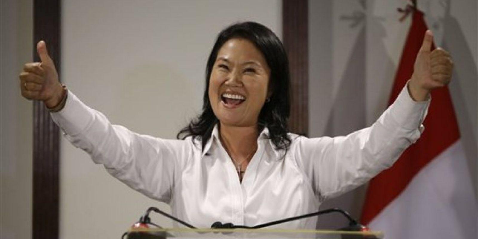 Fujimori fue la ganadora de la primera vuelta en las votaciones Foto:ap