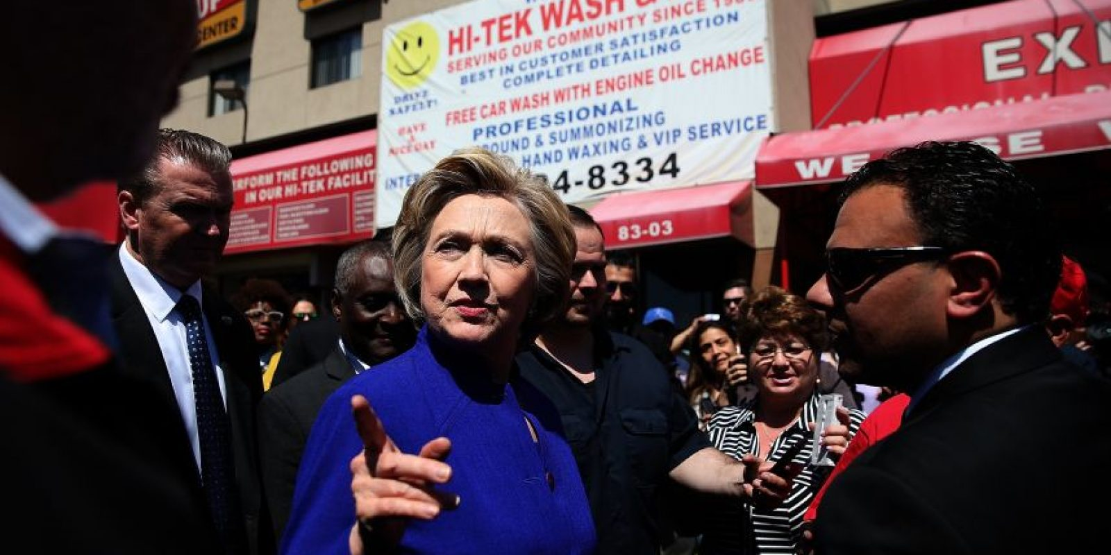 Hillary Clinton tiene el 50 por ciento de las preferencias de acuerdo a la última encuesta Foto:getty images