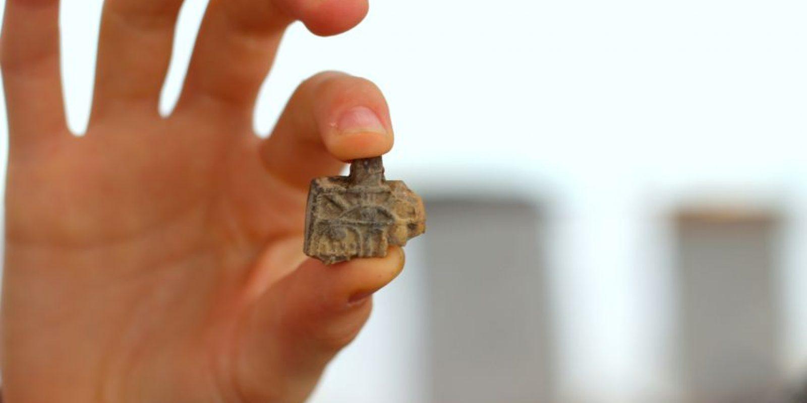 Esta imagen proporcionada por la fundación Ir David – Ciudad de David el martes 19 de abril de 2016, muestra un amuleto egipcio de la época de los faraones con más de 3,200 años de antigüedad. Foto:AP