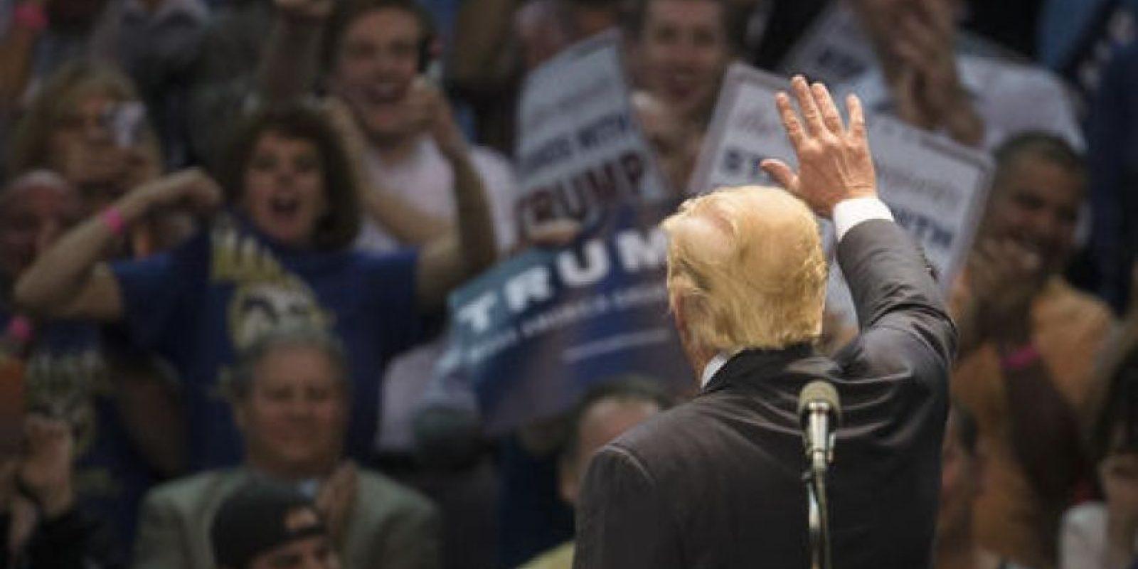 Este 19 de abril Tump enfrenta a sus dos oponentes del Partido Republicano. Foto:AP