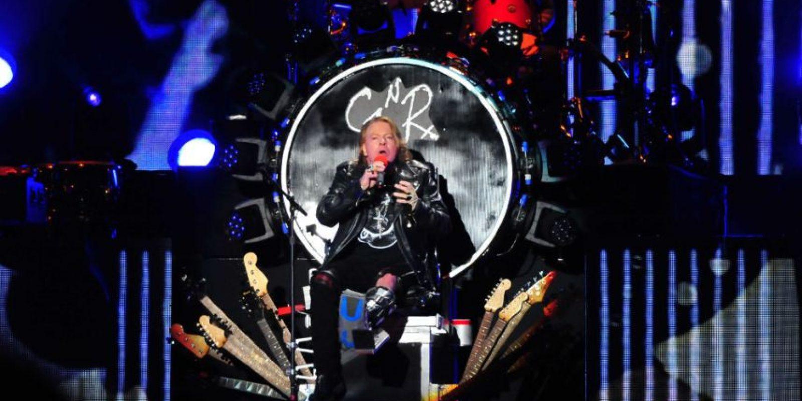 """Debido a su lesión, Axl Rose seguirá sobre """"el trono de guitarras"""" interpretando sus éxitos. Foto:Arturo Quintero / JDS"""