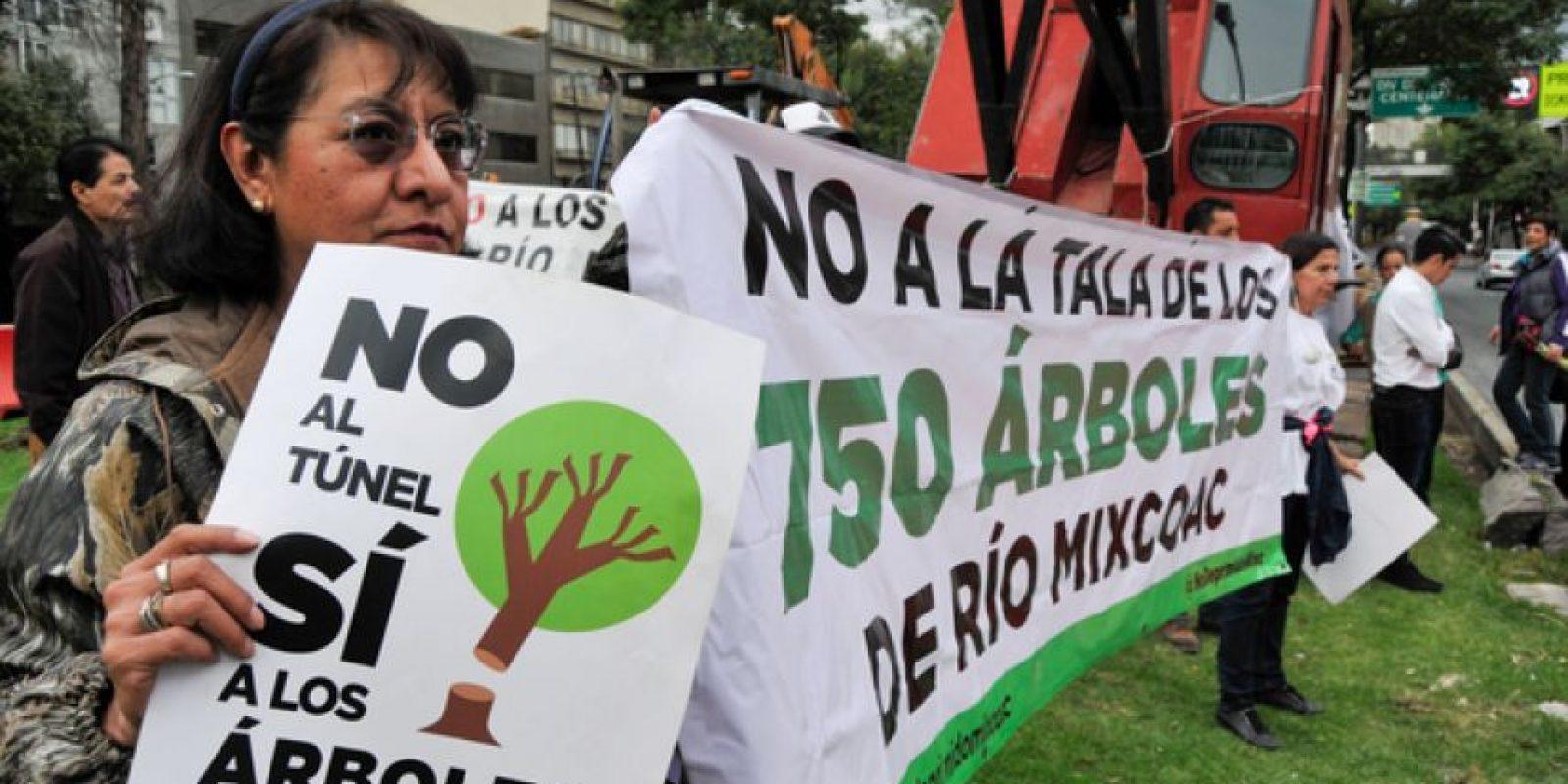 En el deprimido vial de Mixcoac la autorización de tala de árboles generó oposición vecinal que ha derivado incluso en presencia policiaca Foto:Cuartoscuro