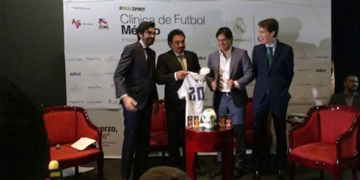 Hugo Sánchez y Bruno Marioni presentan clínicas de futbol del Real Madrid en México