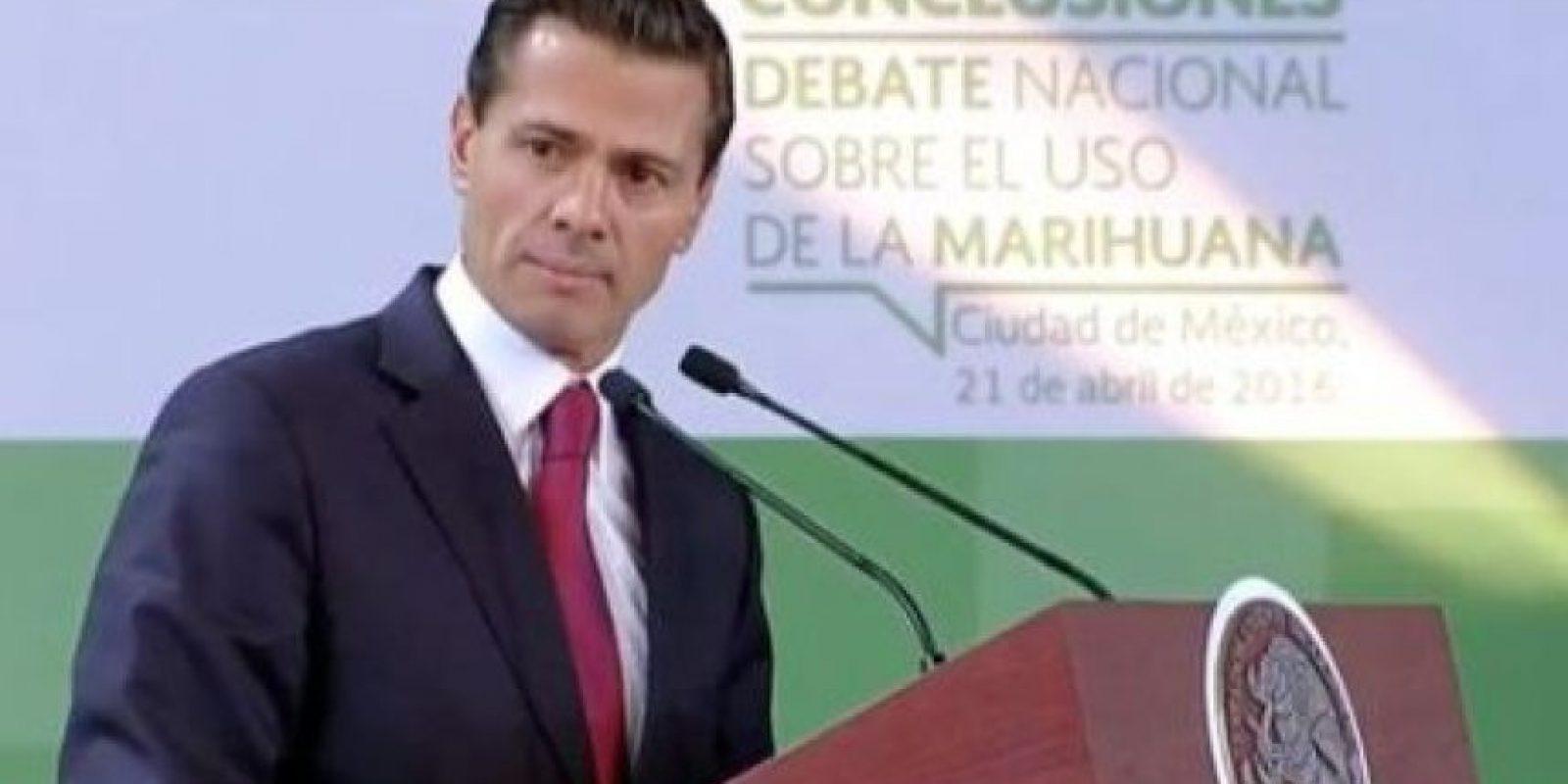 El presidente habló, el día de hoy en el marco del Debate Nacional Sobre el Uso de la Marihuana Foto:La silla Rota
