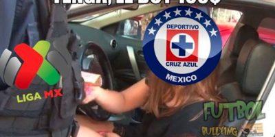 Las divertidas imágenes no se hicieron esperar cuando Cruz Azul cayó en el puerto jarocho. Foto:Facebook