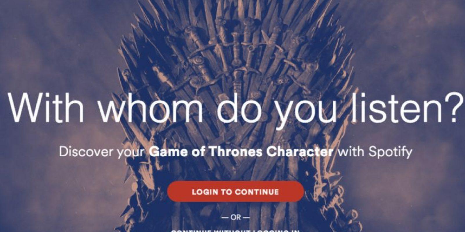 """Estas son algunas de listas que Spotify realizó inspiradas en """"Game of Thrones"""". Foto:Spotify"""