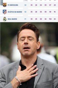 El Barça deespués de jugar. Foto:memedeportes.com
