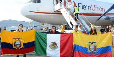 En el mismo vuelo se transportaron otras 20 toneladas de ayuda humanitaria recolectada por la SRE, la embajada y la UNAM Foto:Especial