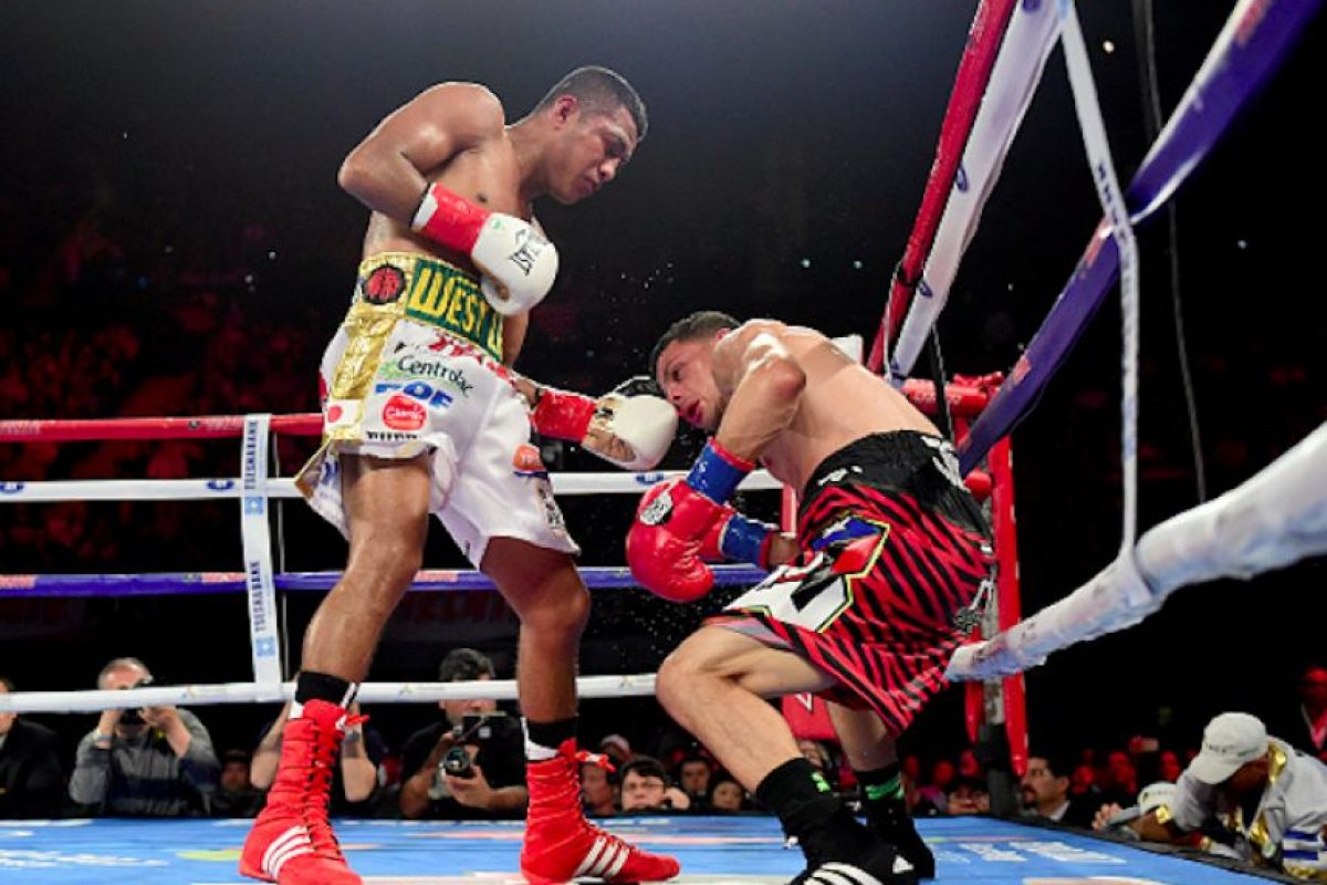 """Román """"Chocolatito"""" González venció por decisión unánime al puertorriqueño McWilliams Arroyo. Foto:Getty Images"""