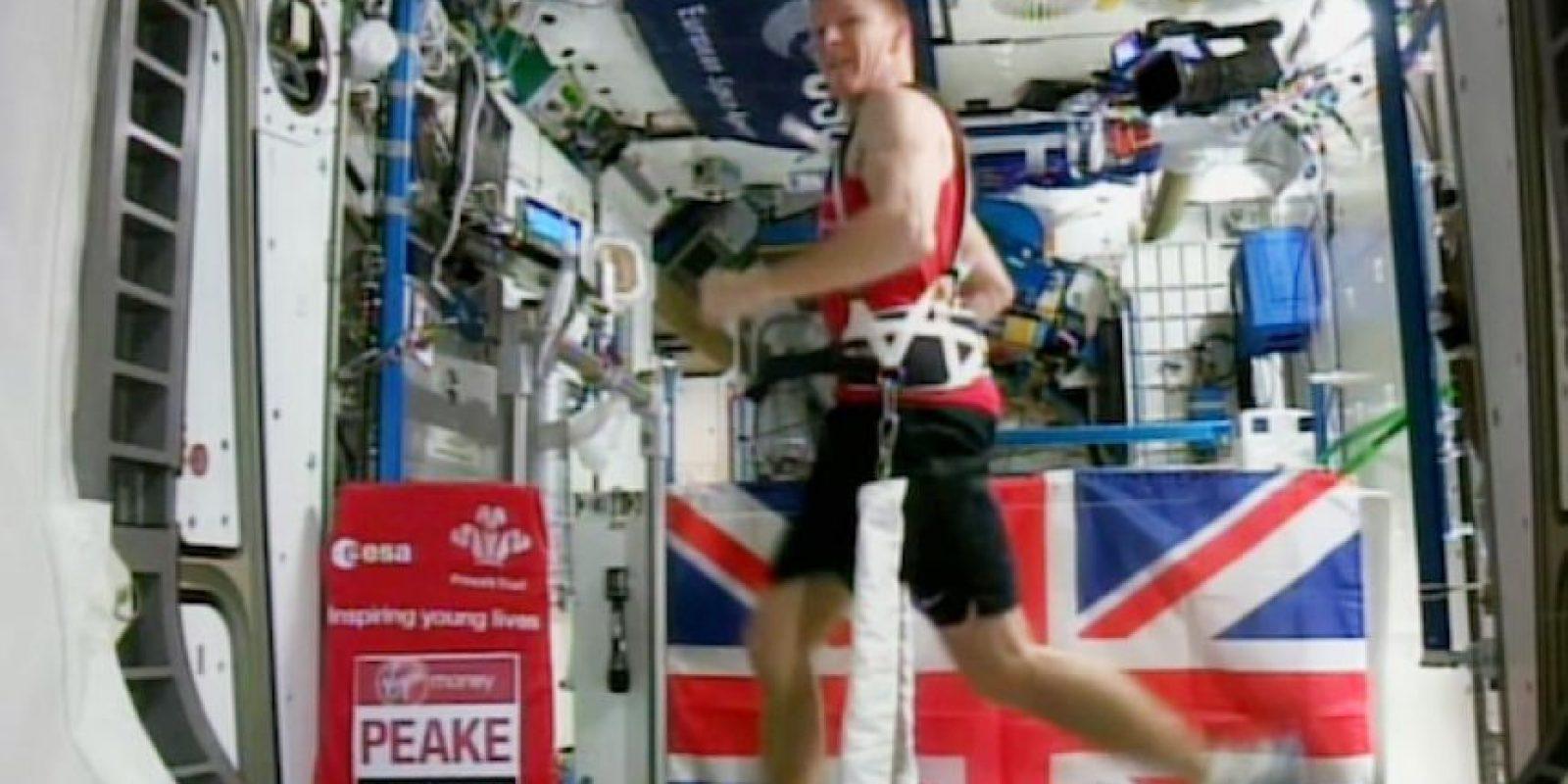 El astronauta británico Time Peake Foto:AP