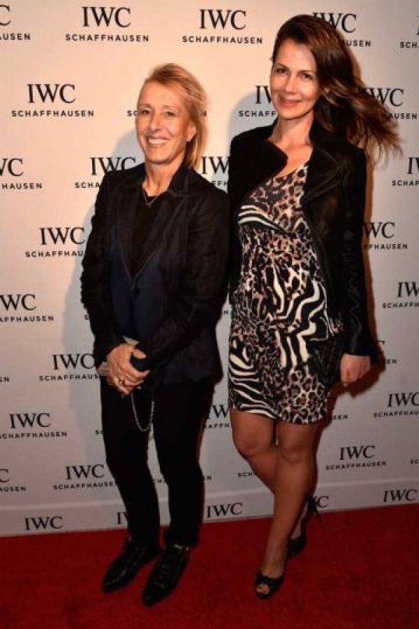 Martina Navratilova y Julia Lemigova Foto:Getty Images