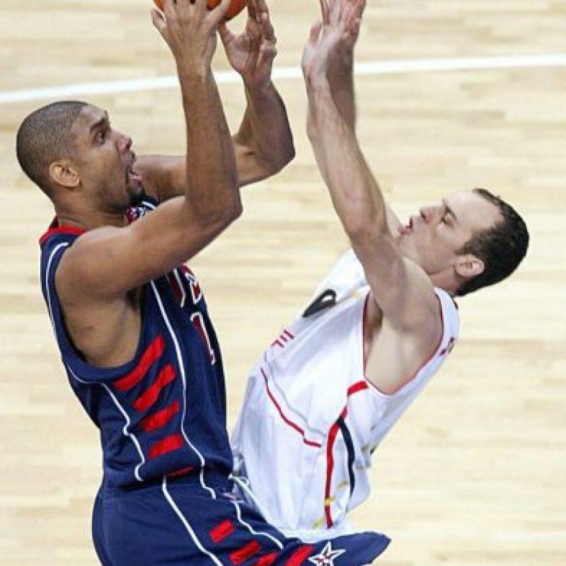 Participó en los Juegos Olímpicos de Atenas 2004 donde la Selección de Estados Unidos se llevó el bronce. Foto:Getty Images