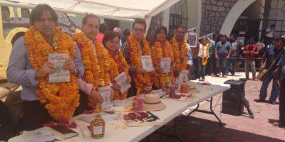 Los integrantes del GIEI durante la entrega de su informe final. Foto:@GIEIAYOTZINAPA