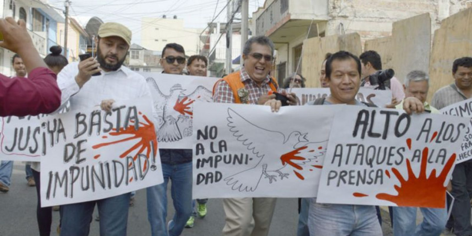 Periodistas marcharon y protestaron contra los crímenes hacia la prensa Foto:Cuartoscuro