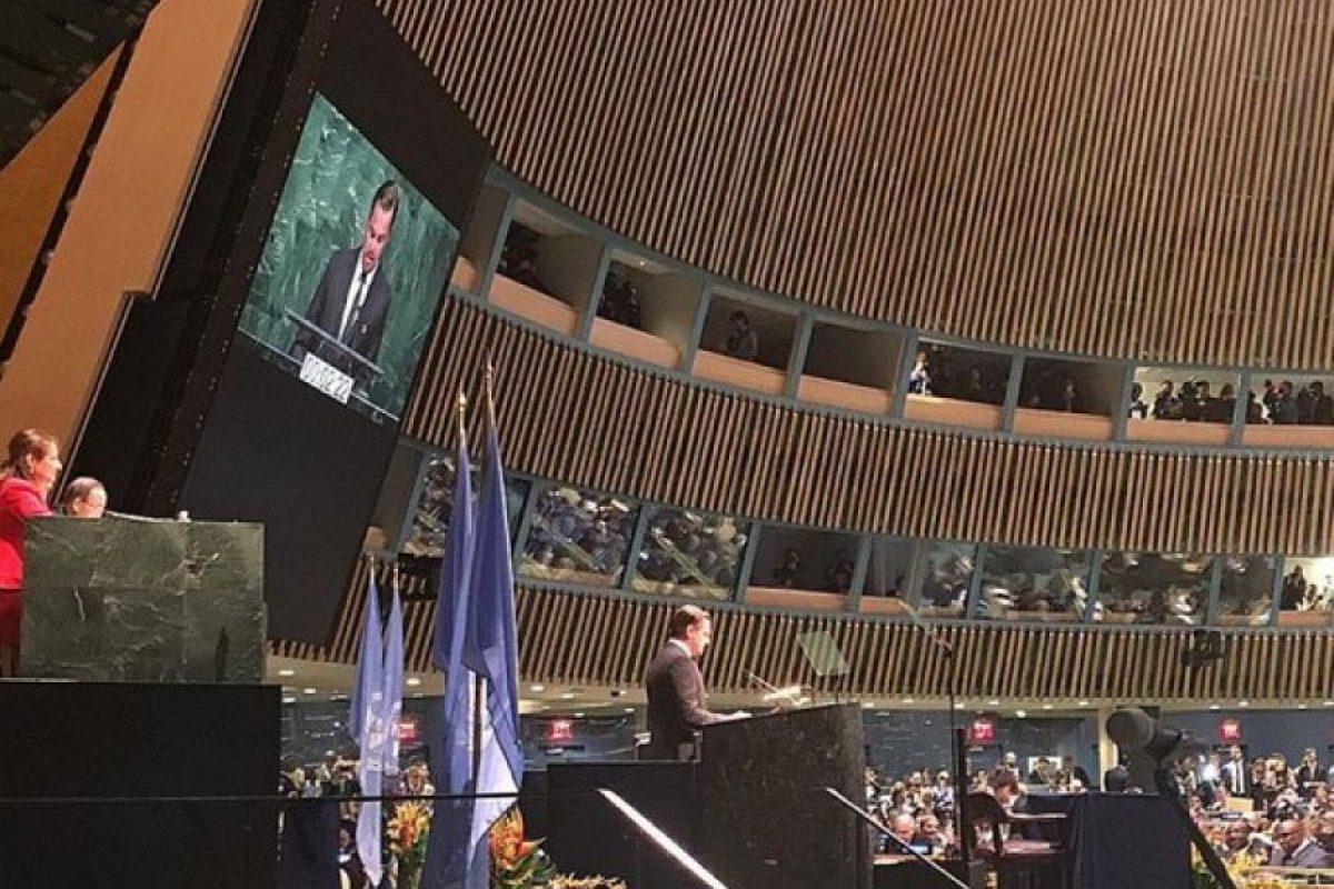 El actor estuvo en la ONU hace unos días Foto:Vía instagram.com/leonardodicaprio