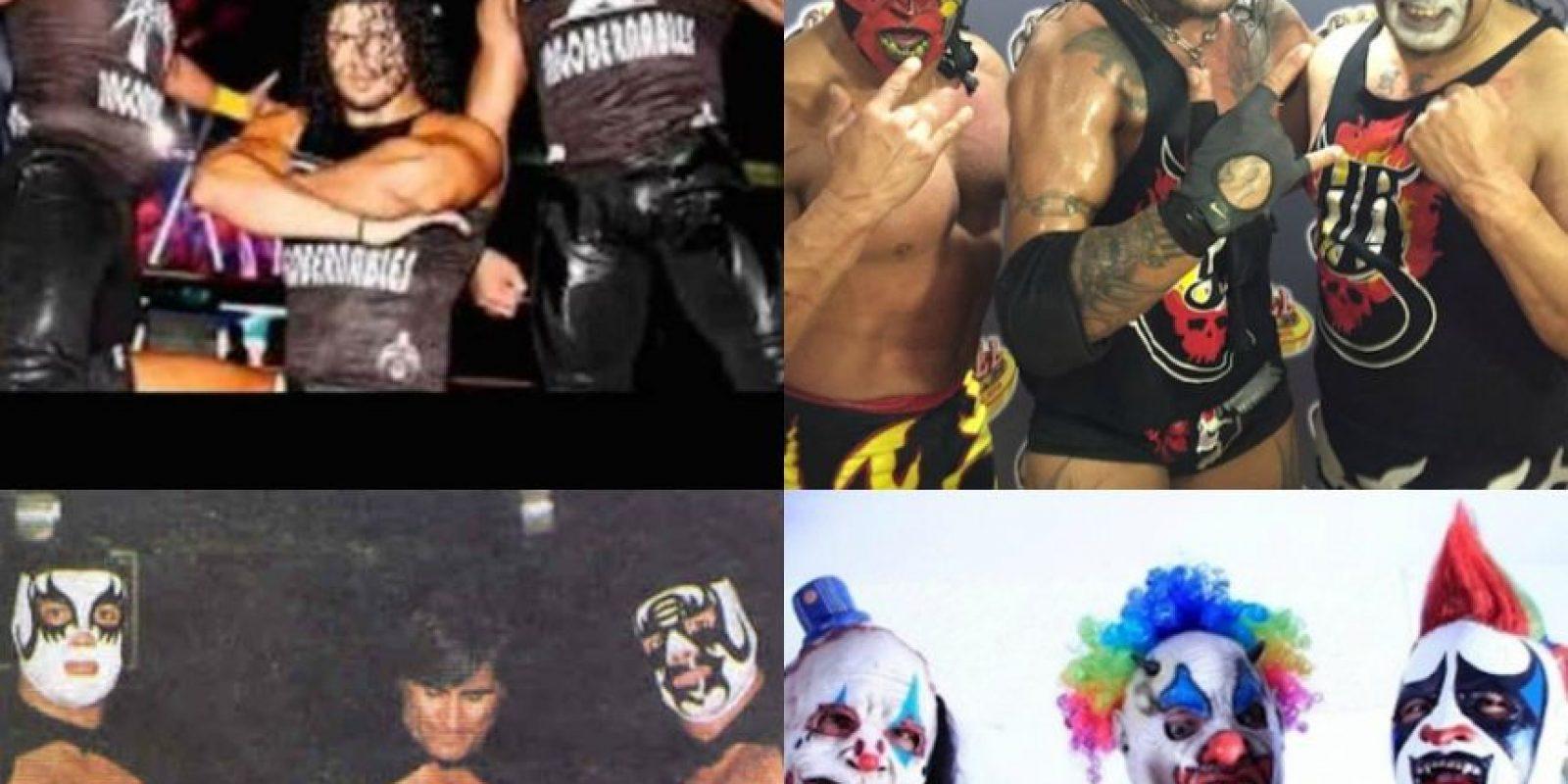 Estos son los que consideramos las mejores tercias de la lucha libre, ¿quién crees que falta? Foto:Archivo