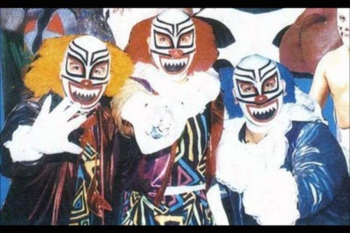 LOS PAYASOS: Coco Amarillo, Coco Rojo y Coco Azul fueron los antecesores de los Psycho Circus. Foto:Archivo
