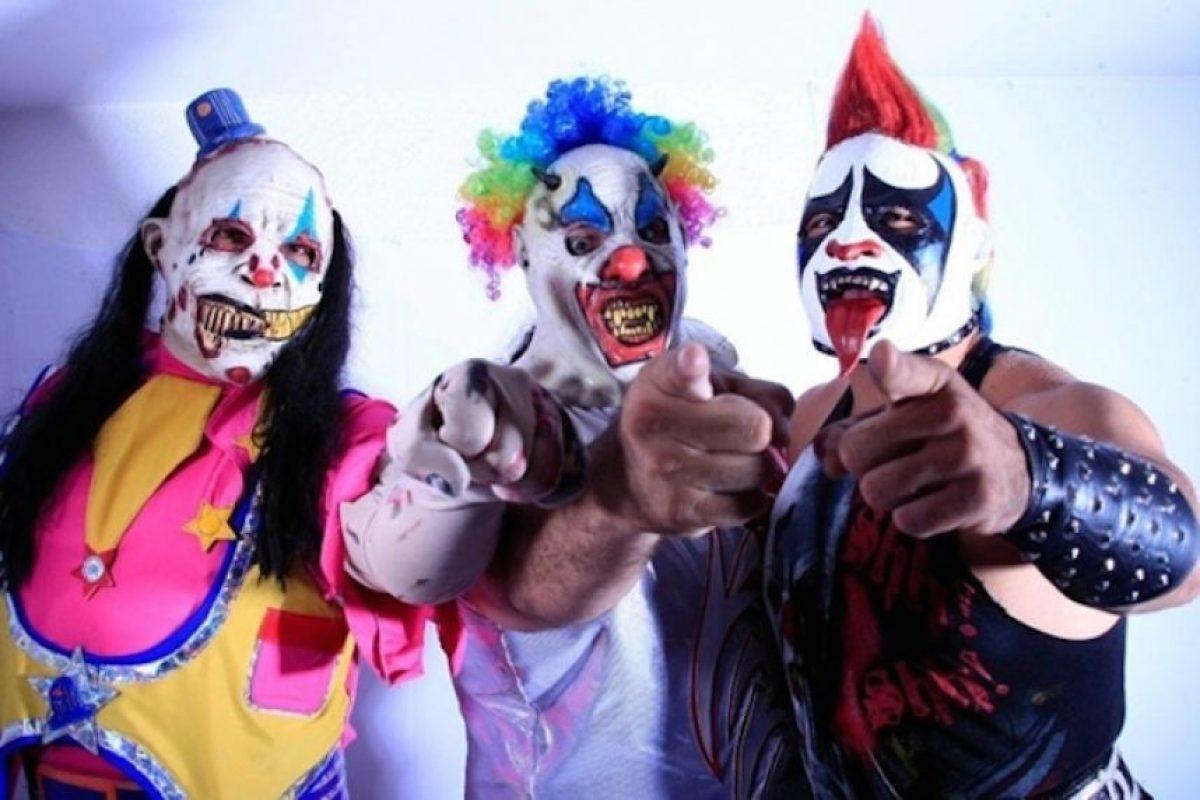 LOS PSYCHO CIRCUS: Murder Clown, Monster Clown y Psycho Clown son la tercia más poderosa de AAA. Foto:Archivo