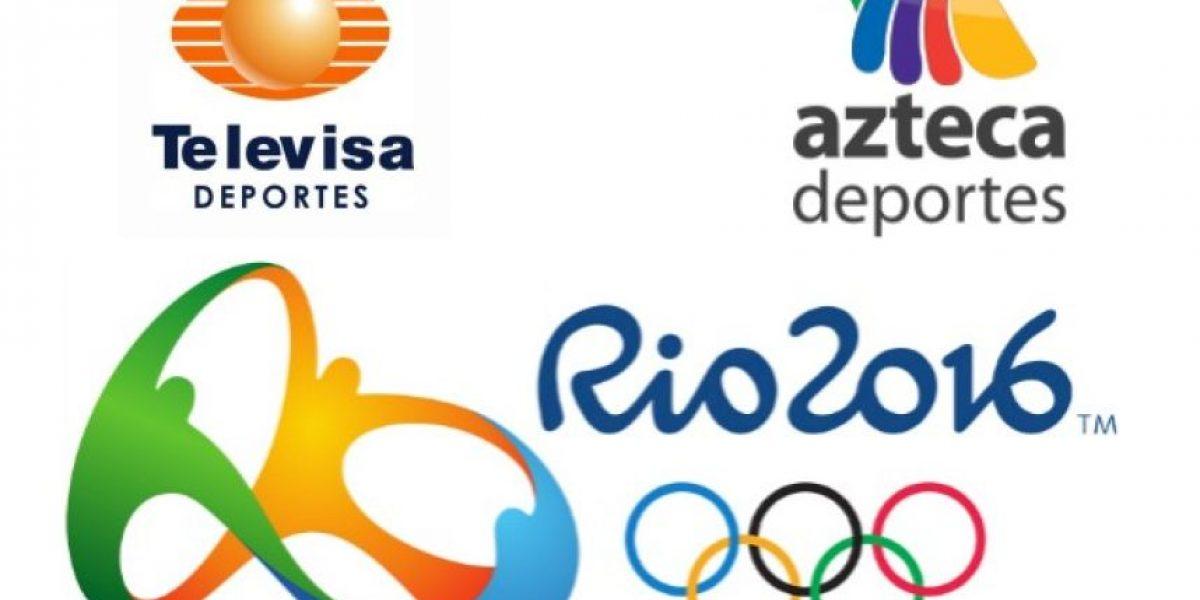 Televisa y TV Azteca no transmitirán los Juegos Olímpicos de Río 2016