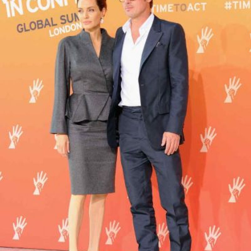 5 y 6.- Angelina Jolie y Brad Pitt Foto: Getty Images