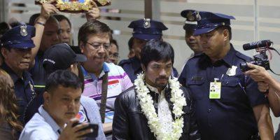 Pacquiao se disculpó a quienes hubiese ofendido por su comentario pero dejó en claro que se opone al casamiento homosexual. Foto:AP/ Archivo