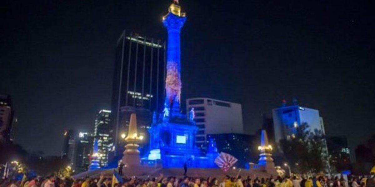 ¡Ángel azulcrema! Americanistas festejaron el campeonato en Reforma