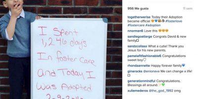 """""""Hoy fui adoptado"""" Foto:Instagram.com/togetherwerise/"""