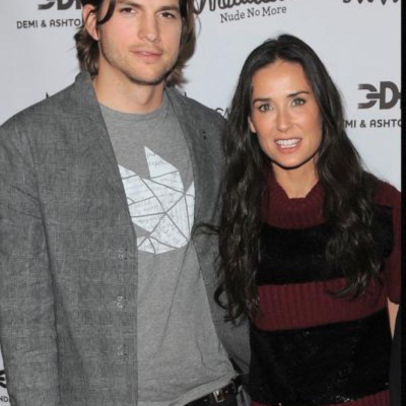 Demi Moore y Ashton Kutcher parecían ser el uno para el otro. Foto:vía Getty Images