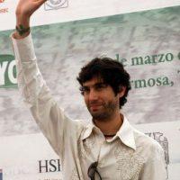 """El cantautor y actor Benny Ibarra en Villahermosa, Tabasco, como vocero de """"Save the Children"""" México. Foto:Archivo Cuartoscuro"""