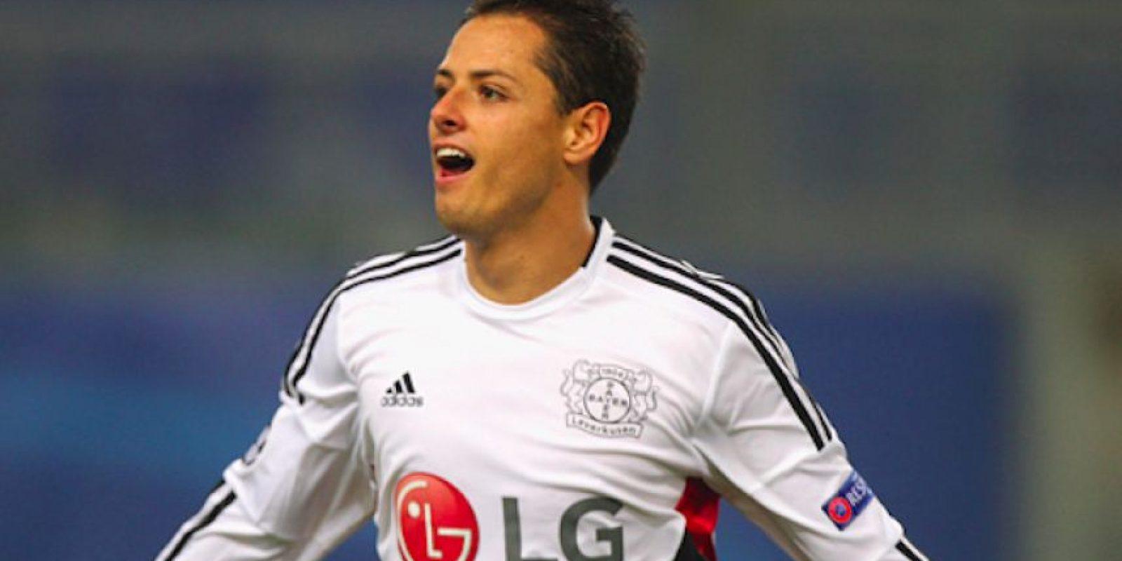 "Javier ""Chicharito"" Hernández, delantero del Bayer Leverkusen Foto:Getty Images"