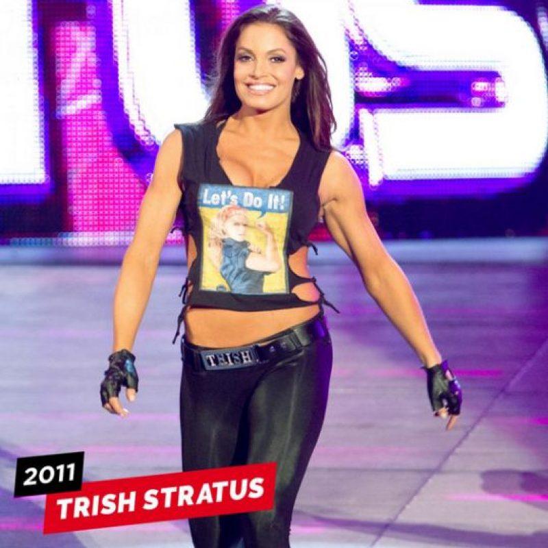 Trish en su última presentación, en 2011 Foto:WWE